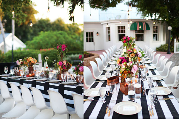 A Striped Wedding | Pearl Events Austin