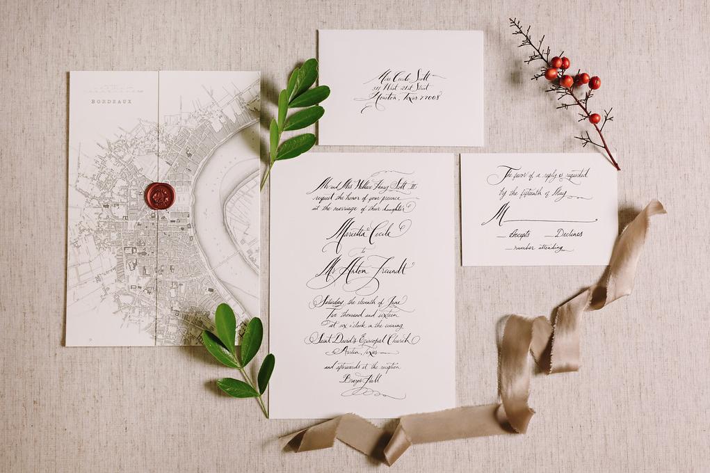 Austin Wedding Event Invitation Design by Pearl Events Austin